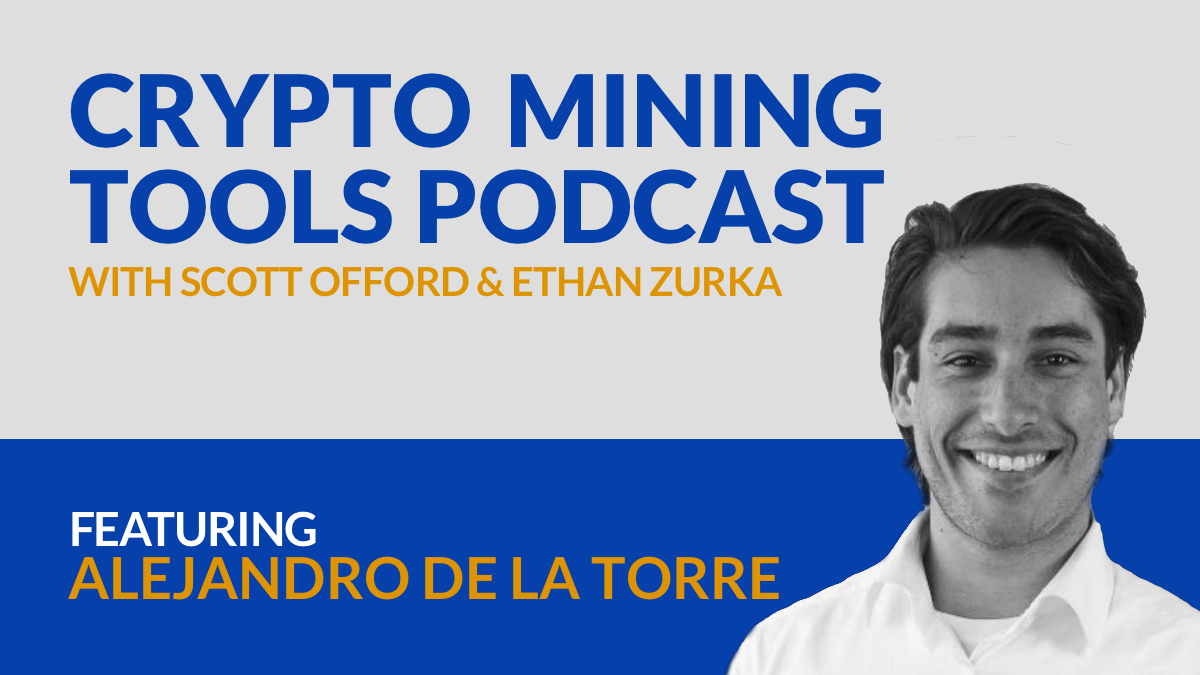 poolin crypto mining tools podcast Alejandro De La Torre